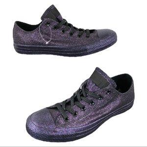 🆕 Converse CTAS Low Purple Glitter Fashion Shoes